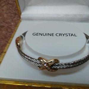 Jewelry - GENUINE CRYSTAL  STAINLESS STEEL   NEW